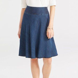 Nic + Zoe Summer Denim Fling Flirt Skirt 10 NWT